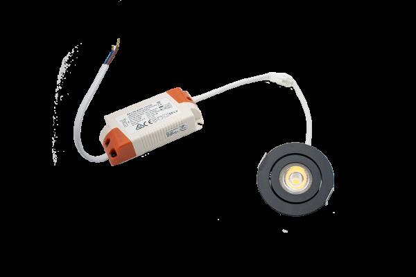 Endurance 4PRO Einbauleuchte, schwenkbar - dimmbares 4W LED Downlight 38°, rund