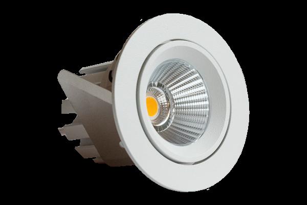 Endurance 12R Einbauleuchte, schwenkbar - 10,8W LED Downlight, 68mm Ø , 2800K warm, IP44, rund