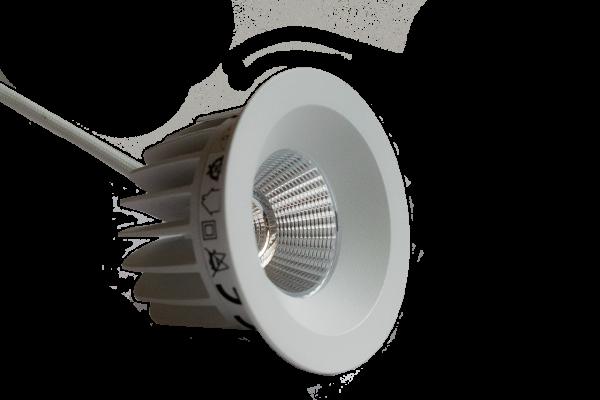 LClux Endurance 12S Einbauleuchte, starr - 13W LED Downlight, 68mm Ø , 2800K/4000K, IP44, rund