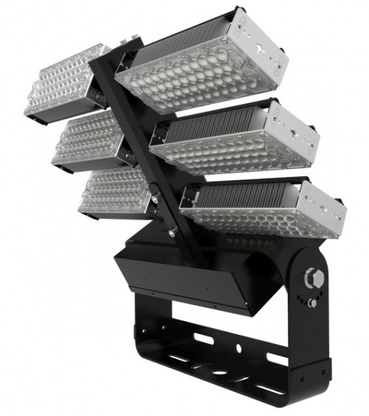 LClux® ARENA CURVE HP - System LED Fluter mit 3-flammiger Dualline Engine