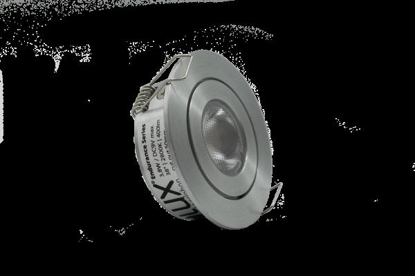LClux Endurance 4PRO Einbauleuchte, schwenkbar - dimmbares 4W LED Downlight 38°, rund