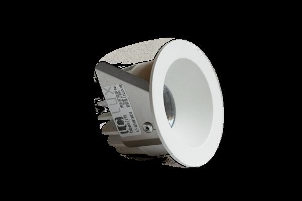 LClux Endurance 7S Einbauleuchte, starr - 7W LED Downlight, 36° Linse, weiß, rund