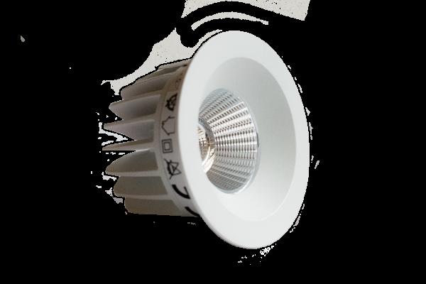 Endurance 12S Einbauleuchte, starr - 10,8W LED Downlight, 68mm Ø , 2800K/4000K, IP44, rund