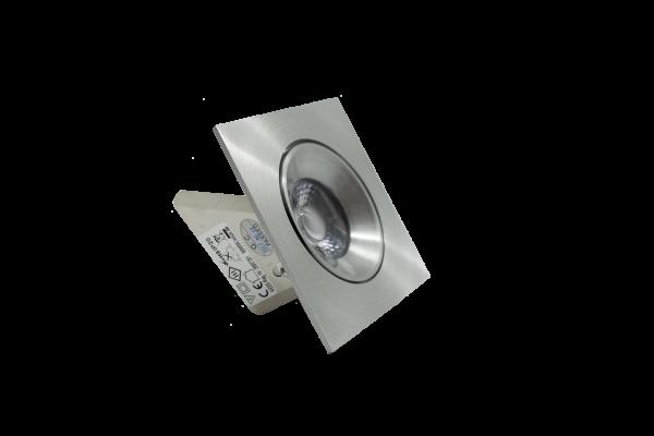LClux Endurance 8F Einbauleuchte, schwenkbar - 8W LED Downlight, 68mm Ø, 2800K, eckig, Linse